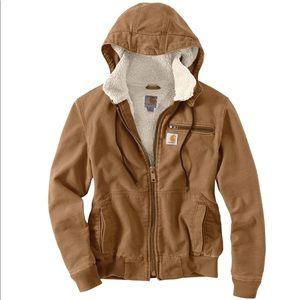 Carhartt weathered wildwood brown Sherpa jacket